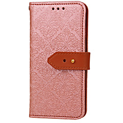 For Card Holder Wallet with Stand Flip Embossed Pattern Case Full Body Case PU Leather for iPhone 7 Plus iPhone 7  6s Plus 6 Plus 6 5SE 5C 5S 4S 4G