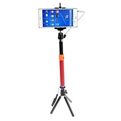 Selfie-tikku Yksijalkainen Johdolliset Pidennettävä kanssa Kaapeli Selfie-tikku varten iPhone Android älypuhelin