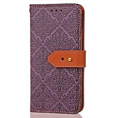 For Pung Kortholder Med stativ Mønster Magnetisk Etui Heldækkende Etui Blomst Hårdt Kunstlæder for Samsung Note 5 Note 4 Note 3