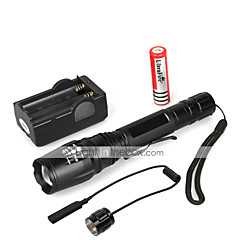LED Flashlights/Torch Handheld Flashlights/Torch LED 1000 Lumens 5 Mode Cree XM-L T6 18650 Waterproof Multifunction Aluminum alloy