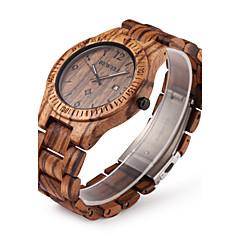 Masculino Relógio de Pulso Único Criativo relógio Relógio Madeira Quartzo Quartzo Japonês Calendário Madeira Banda Luxuoso Marrom Marron
