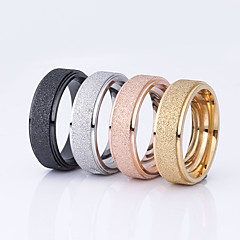 Wedding Rings Fashion Rose Gold Plated Titanium Steel Scrub Surface Ring for Women/Men Couple Rings Engagement Ring 1pc6