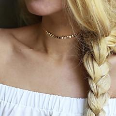 Dames Choker kettingen Sieraden Ronde vorm Legering Basisontwerp Uniek ontwerp Modieus Kostuum juwelen Sieraden Voor Bruiloft Feest