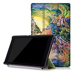 imprimir estojo de couro pu tampa inteligente para amazon novo Kindle Fire hd8 hd 8 com protetor de tela