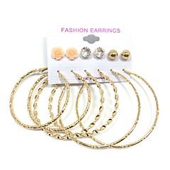 Stangøreringe Store øreringe Øreringe sæt Imiteret Perle Hængende Multi-bæremåder beklædning Perle Legering Rund form Smykker ForBryllup