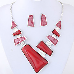 Jewelry 1 Necklace 1 Pair of Earrings Euramerican Geometric Fashion Party Daily Alloy 1set Gifts