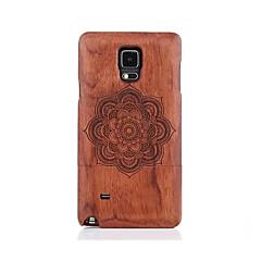 For Mønster Etui Bagcover Etui Mandala-mønster Hårdt Træ for Samsung Note 5 Note 4