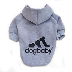Koty Psy Bluzy z kapturem Ubrania dla psów Zima Wiosna/jesień Litera i numer Modny Sportowy Gray Yellow Czerwony Różowy Light Blue