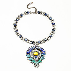 Women's Pendant Necklaces Crystal Flower Chrome Personalized Jewelry For Wedding Congratulations 1pc