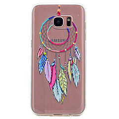 For Transparent Mønster Etui Bagcover Etui Drømmefanger Blødt TPU for Samsung S8 S7 edge S7 S6 edge S6 S5 Mini S5