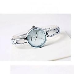 Dames Modieus horloge Japanse quartz Waterbestendig Legering Band Bloem Cool Vrijetijdsschoenen Zilver