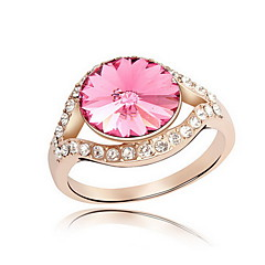 Women's Ring Jewelry Basic Flower Style Euramerican Gemstone Chrome Jewelry Jewelry For Party Special Occasion Gift