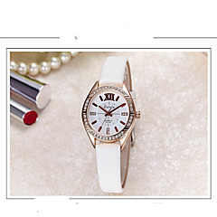 Women's Fashion Watch Simulated Diamond Watch Quartz Leather Band Casual Black White Blue Red Orange Pink Yellow