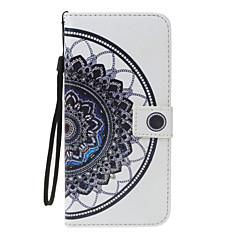 Huawei P8 lite (2017) p10 lite burkolata mandala minta pu anyag festett kártya pénztárca stent all-inclusive telefon esetében P8 P9 lite