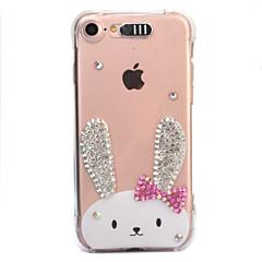 Til Apple iPhone 7 7 plus 6s 6 plus case cover kanin mønster diamant drop kommer med call flash tpu materiale telefon taske