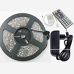 Z®ZDM Waterproof 5M 150X5050 SMD RGB LED Strip Light and 44Key Remote Controller and 3A EU US UK AU Power Supply (AC110-240V)