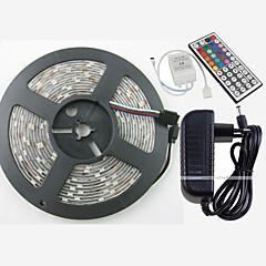 Z®zdm impermeável 5m 150x5050 smd rgb luz de tira conduzida e 44key controle remoto e 3a eu us uk au fonte de alimentação (ac110-240v)