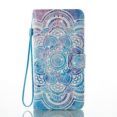 Voor iPhone 8 iPhone 8 Plus Hoesje cover Kaarthouder Portemonnee met standaard Flip Patroon Magnetisch Volledige behuizing hoesje Mandala