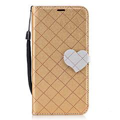 ja huawei p8 lite (2017) p10 timantti kuvio sydämen magneettinen solki PU nahka lompakko toiminto puhelimen tapauksessa p10-lite Y5 ii Y6