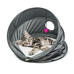고양이 침대 애완동물 바구니 솔리드 통기성 폴더 그레이