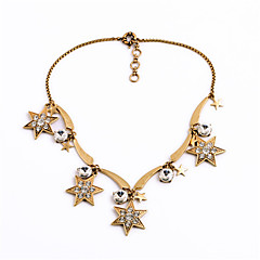 Women's Strands Necklaces Star Chrome Unique Design Personalized Gold Jewelry For Housewarming Congratulations Casual 1pc