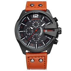 SKONE Męskie Modny Zegarek cyfrowy Chiński Kwarcowy Skóra Pasmo Czarny Pomarańczowy Brązowy