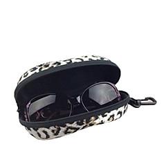 Gözlük Temizleyici için Seyahat Depolama PU Deri Plastik