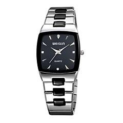 WeiQin Heren Modieus horloge Japans Kwarts Waterbestendig Roestvrij staal Band Zilver