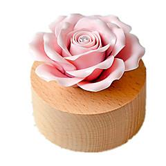 Music Box Róże Artykuły świąteczne Drewno Ceramika Dla obu płci