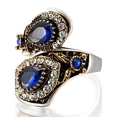 Ring Statementringen Uniek ontwerp Modieus Vintage PERSGepersonaliseerd Euramerican Luxe Sieraden Opvallende sieraden Glas LegeringRonde