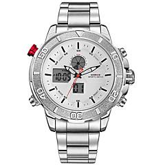 WEIDE Masculino Relógio Esportivo Relógio Militar Relógio de Pulso Japanês Quartzo DigitalLED LCD Calendário Impermeável Dois Fusos