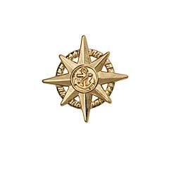 Pojat Muut Rintaneulat Personoitu Euramerican Gold Plated Metalliseos Star Shape Ankkuri Korut Varten Häät Party Päivittäin Kausaliteetti