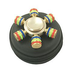 Stresszoldó pörgettyűk Kézi Spinner Játékok hat Spinner Fém EDCStressz és szorongás oldására Office Desk Toys Enyhíti ADD, ADHD, a