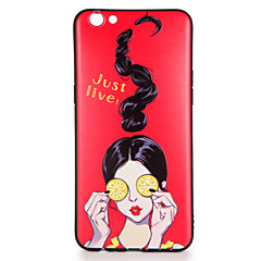 Til oppo r9s r9s plus case cover mønster bagside cover sexy lady soft tpu r9 r9 plus