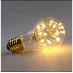 3W E27 Lâmpadas de Filamento de LED A60(A19) 3 COB 300 lm Branco Quente Regulável Decorativa AC 220-240 V 1 pç