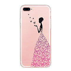 Voor case cover ultra dun patroon achterkant hoesje vlinder soft tpu voor iphone 7 plus 7 6s plus 6 plus se 5s 5
