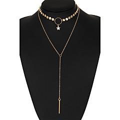 Dames Choker kettingen Diamant Stervorm Legering Uniek ontwerp Bikini Kostuum juwelen Sieraden Voor Bruiloft Feest Dagelijks Causaal