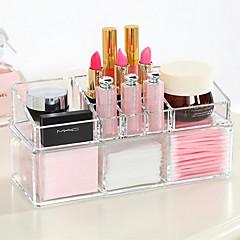 Akryl kompleks kombineret dobbelt lag makeup børste pot kosmetik opbevaring organizer 2 stk sæt