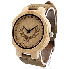 BOBO BIRD Men's Fashion Watch Wristwatch Unique Creative Cool Casual Genuine Leather Band Vintage Luxury Watches Japanese Quartz Wood Watch