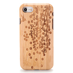 Mert tokok Dombornyomott Minta Hátlap Case Fa mintázat Fa Kemény Fa mert AppleiPhone 7 Plus iPhone 7 iPhone 6s Plus iPhone 6 Plus iPhone