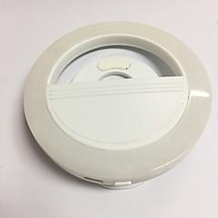 Luz de la luz móvil llevó auto-temporizador de la lámpara de usb de carga de belleza de flash nocturno nocturno tiro luces incorporado en