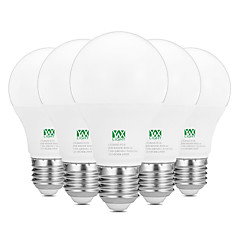 9W E26/E27 LED gömbbúrás izzók 18 SMD 2835 800-900 lm Meleg fehér Fehér Dekoratív AC 100-240 V 5 db.