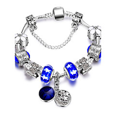 Women's Charm Bracelet Friendship Fashion Alloy Round Jewelry For Valentine Christmas Gifts 1pc