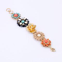 Damskie Bransoletki z breloczkami Biżuteria Przyjaźń Modny Stop Flower Shape Rainbow Biżuteria Na Impreza Urodziny 1szt
