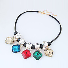 Women's Statement Necklaces Square Glass Alloy Euramerican Fashion Jewelry 1pc