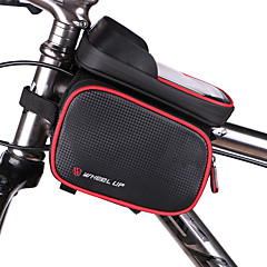 CykeltaskeTaske til stangen på cyklen Vandtæt Vandtæt Lynlås Påførelig Multifunktionel Touch Screen CykeltaskePU / Læder Vandtæt