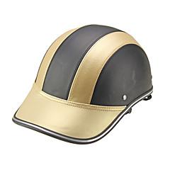 Motor Helmet Baseball Cap Style Safety Hard Hat Anti-UV  Gold Black