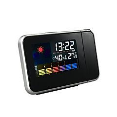 Projekcja domowego zegara alarm wyświetlacza temperatury i wilgotności
