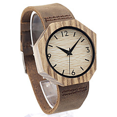 Męskie Modny Zegarek na nadgarstek Unikalne Kreatywne Watch Na codzień Zegarek Drewno Japoński Kwarcowy Kwarc japoński drewnianySkóra