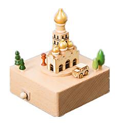Music Box Kwadratowe Zabawki nowoczesne i żartobliwe Drewno Dla obu płci